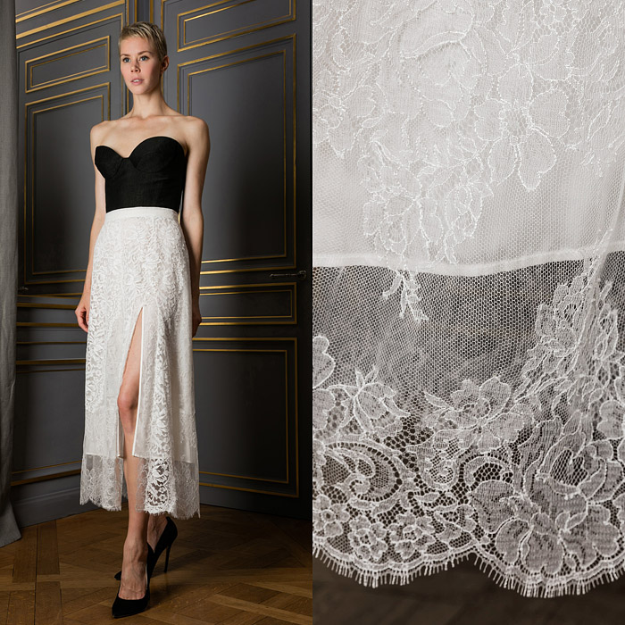 Lace straight skirt