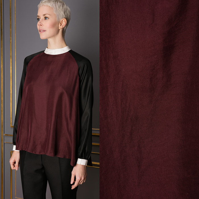 Burgundy silk top